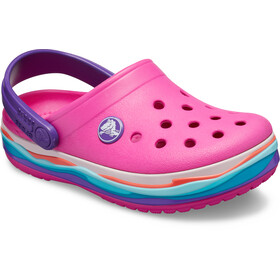 Crocs Crocband Wavy Band Crocs Enfant, neon magenta